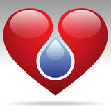 Drop and heart Stock Images