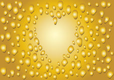 Drop heart, Royalty Free Stock Photo