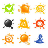 Drop, icon set. Isolated on the white Stock Photography