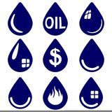 Drop  - icon  set symbol vector  illustration Stock Photo