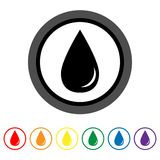 Drop icon. Vector illustration Stock Photo