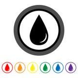 Drop icon. Vector illustration Stock Photo