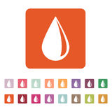 The drop icon. Water and Oil symbol. Flat Royalty Free Stock Image