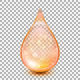Drop isolated on transparent background. EPS 10 vector. Drop isolated on transparent background. Collagen oil drop essence. And also includes EPS 10 vector Stock Image