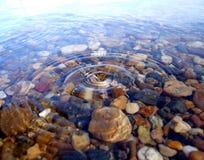 Drop in lake Stock Image