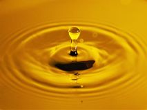 Drop of Liquid Gold Royalty Free Stock Photo