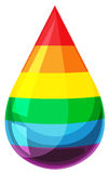 Drop of liquid with rainbow colors Stock Image
