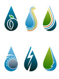 Drop logo. Abstract illustrated drop logo set on white background vector illustration