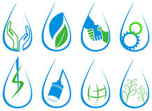 Drop Logo Set Stock Images