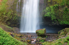 The drop of Multnomah falls. At Columbia River Gorge, Oregon Stock Photography