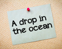 A drop in the ocean Stock Images