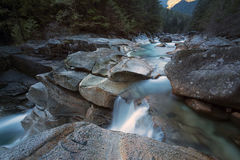 Drop Off. Lower Falls Trail, Golden Ears Provincial Park, Fraser Valley, BC, Canada Royalty Free Stock Photos