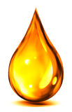 Drop of oil or fuel. Droplet of oil or fuel - on white stock illustration