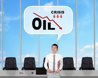 Drop in oil prices Royalty Free Stock Photos
