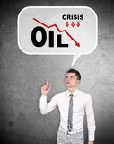 Drop in oil prices Royalty Free Stock Images