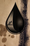Drop of oil Royalty Free Stock Photo