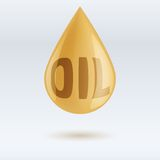 Drop of oil  on white background Royalty Free Stock Photos