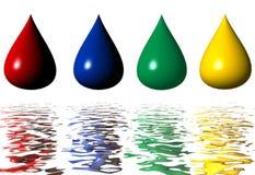 drop paint Стоковая Фотография