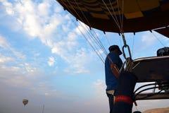 Drop process of balloon in Luxor Stock Photos