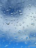 Drop of rain on background blue sky Royalty Free Stock Images