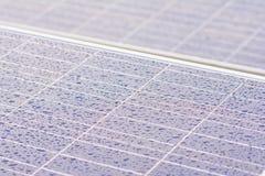 Drop of rain on solar cells Stock Photography