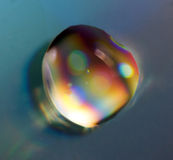 Drop rainbow. Macro . Stock Image