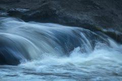 Drop in rapids, splashing water, Farmington River, Nepaug Forest Stock Image