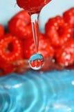 Drop of raspberry Stock Photo