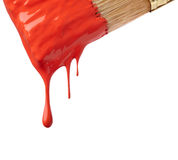 Drop of red paint. On white background royalty free stock photography
