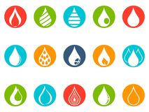 Drop round button icons set royalty free illustration