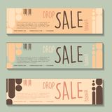 Drop sale banner design set vector illustration