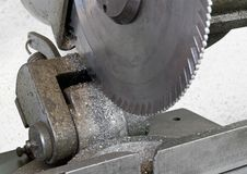 Drop saw detail Royalty Free Stock Photos