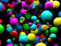 Drop shapes abstract. 3d drop shapes abstract on black background Royalty Free Stock Image