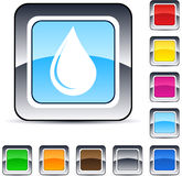 Drop square button. Drop glossy square web buttons vector illustration