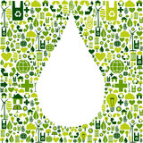 Drop symbol with eco friendly icon Royalty Free Stock Photography