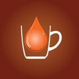 Drop of tea Royalty Free Stock Image