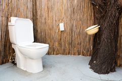 Drop toilet at campsite in Namibia. Simple royalty free stock photo