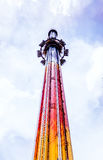 Drop Tower Ride. A drop tower ride some 300 feet high Stock Photography
