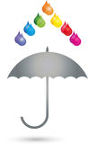 Drop, umbrella, painter, printing shop, logo Royalty Free Stock Photos