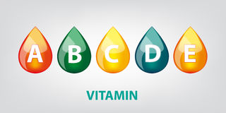 Drop of vitamins   illustration Stock Images