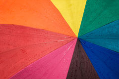 Drop on vivid colour fabric background Stock Photos