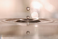 A drop of water Stock Image