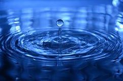 Blue water drop Stock Photos