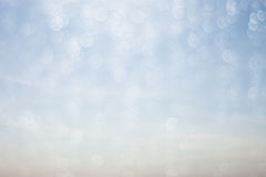 Drop water and bokeh abstract background blue Royalty Free Stock Photo