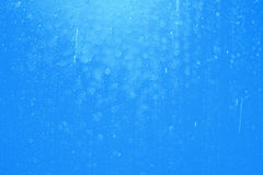 Drop water and bokeh abstract background blue Stock Images