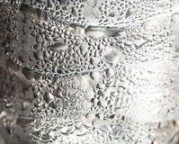 Drop. Water bottle ice daylight shadow cool wet texture royalty free stock images