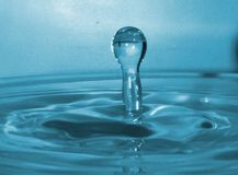 A Drop. A water drop by the camera without effect stock photo