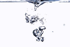A drop of water close on a white Stock Photography