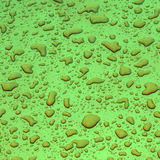 Drop of water gives a harmonic pattern Stock Photo