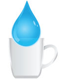 Water in a glass cup Royalty Free Stock Photo